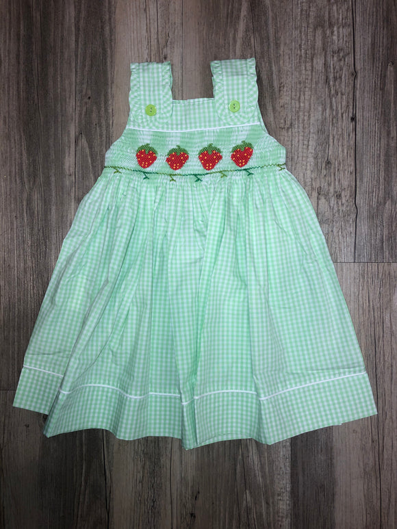 Mom & Me Lime Green Strawberry Dress