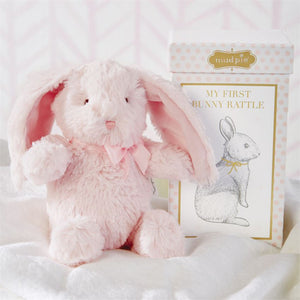 Mud Pie MY FIRST PLUSH PINK BUNNY