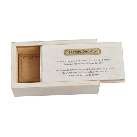 Mud Pie WOODEN BABY PRAYER BOX SET