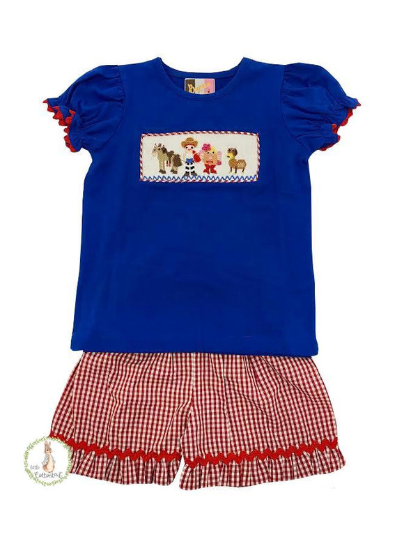 Banana Split Toy Story Smocked Shorts Set
