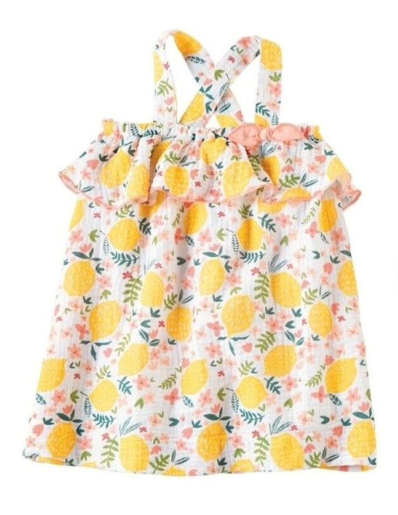 MUD PIE GIRL LEMON FLORAL SUN DRESS