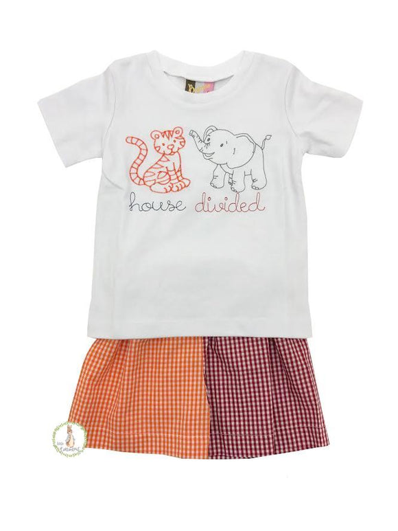 Banana Split A House Divided Shorts Set