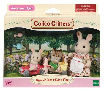Calico Critters Apple & Jake's Ride'n Play