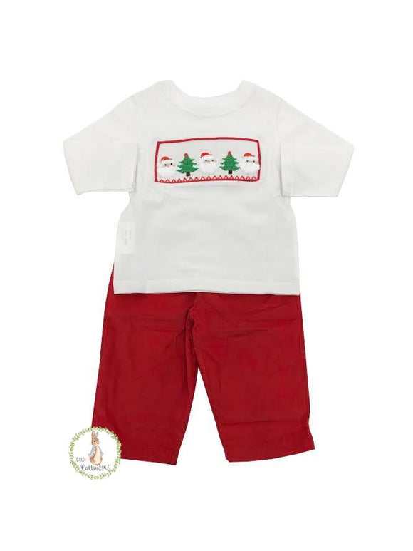 Mom & Me Smocked Christmas Pants Set