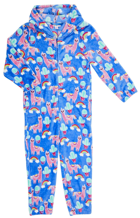 Candy Pink Fleece Llama Onesie/Jump Suit