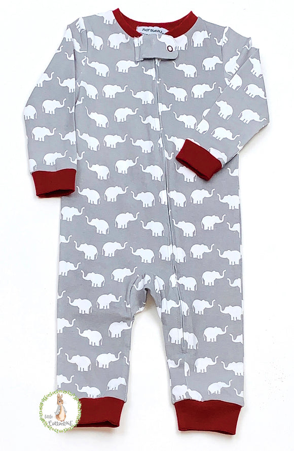 Ishtex Tara Collection Elephant Boy Long Romper