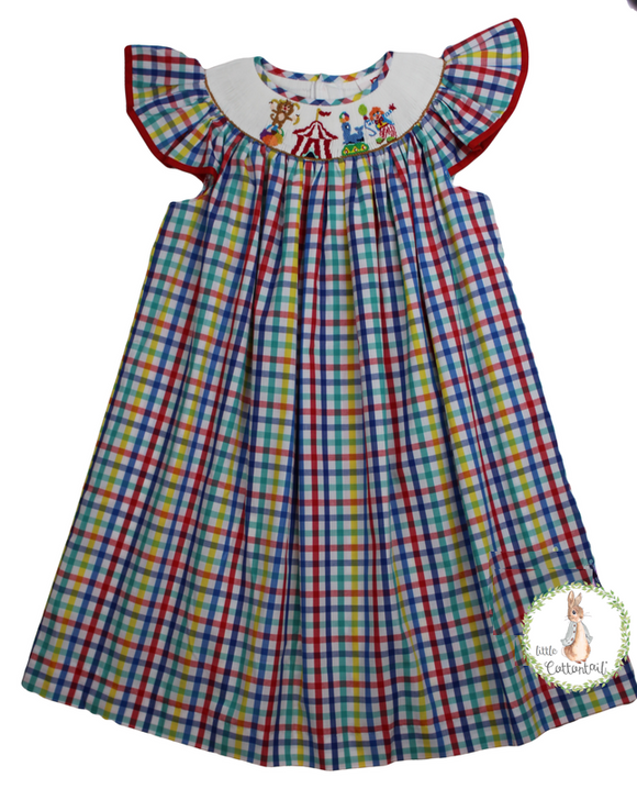 Mom & Me Circus Angel Sleeve Bishop Dress