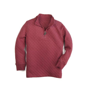 Southern Proper BOYS - BEAU QUILTED QUARTERZIP: BARN RED