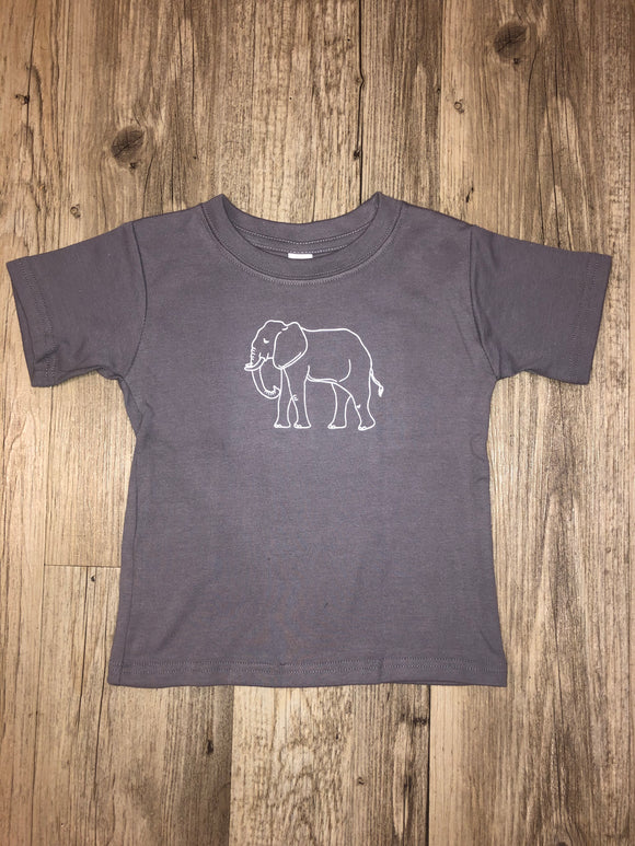 Honey Bee Tees Gray Elephant T-Shirt