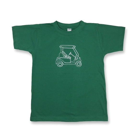 Honey Bee Tees Green Golf Cart T-Shirt