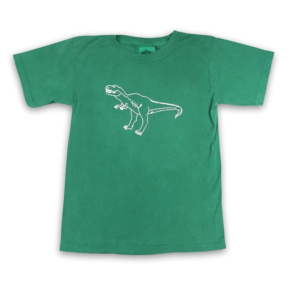 Honey Bee Tees Green T-Rex T-Shirt