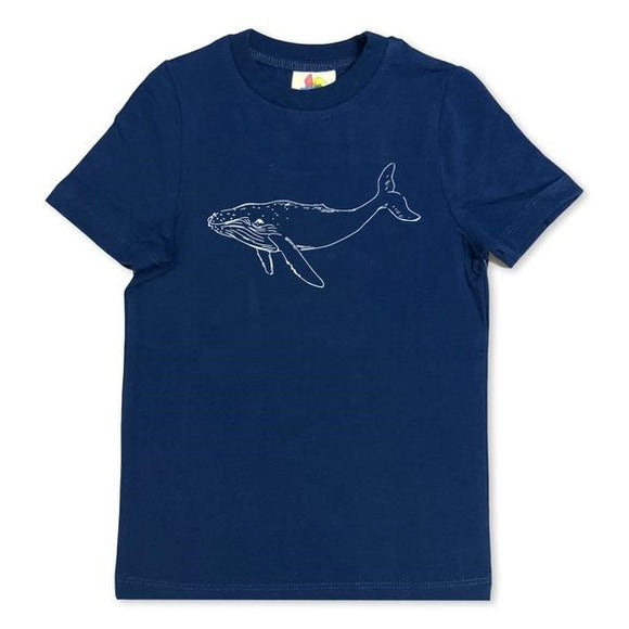 Honey Bee Tees Navy Whale T-Shirt