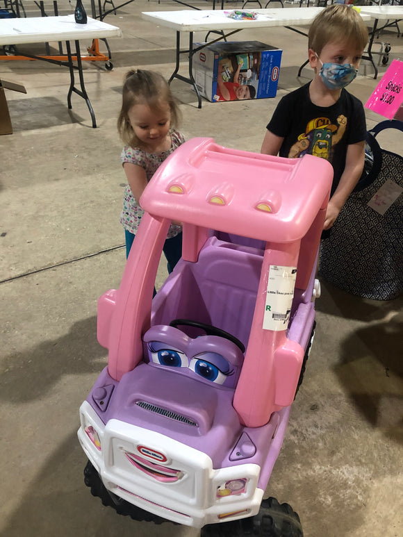 Pink Truck Cozy Coupe