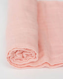 Little Unicorn Cotton Muslin Swaddle Blanket - Peach