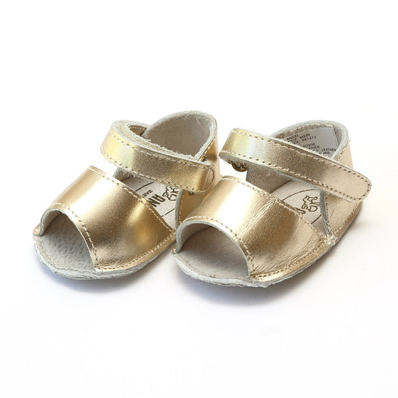 Angel Baby Shoes - OPEN TOE BABY SANDAL - White or Gold