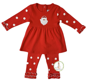 Three Sisters Girls Santa Legging Set