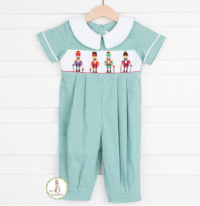 Mom & Me Smocked Christmas Nutcracker Boy Romper