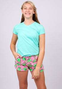 Candy Pink Fleece Avocado Short