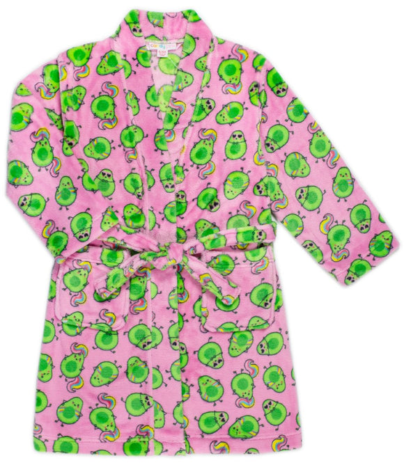 Candy Pink Fleece Avocado Robe