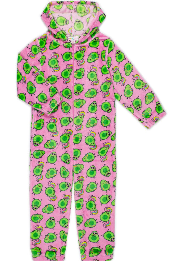 Candy Pink Fleece Onesie/Jump Suit