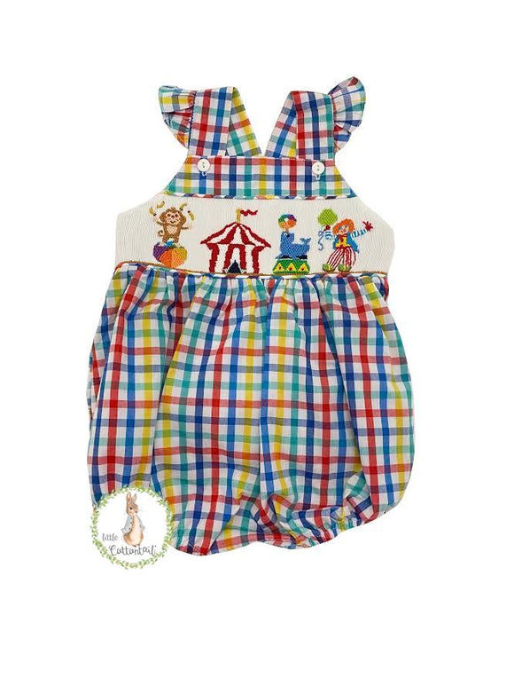 Mom & Me Smocked Circus Bubble