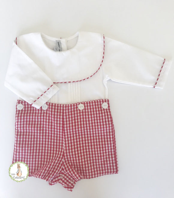 Sweet Dreams  Red Gingham Button On