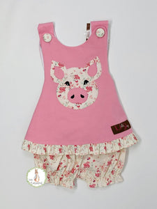 Millie Jay PIGGY APP CROSSBACK BLOOMER SET