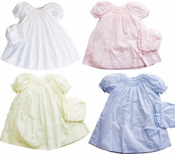 Petit Ami Infant day gown~~Lavender~~Newborn