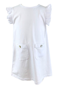 Ishtex Tara  WHITE A-line Dress