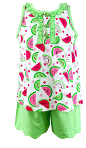 Ishtex Tara Collection Watermelon  Shorts Set