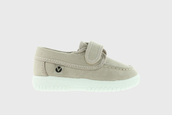 Victoria Shoes Canvas Boat Shoe Beige