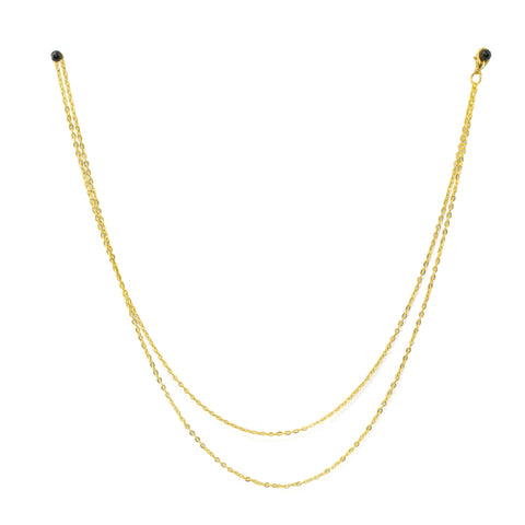 Gold Monocle Chain by Kate Hunter