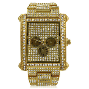 Custom Rectangle Gold Watch