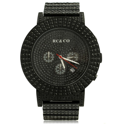 Micro Pave CZ Black Hip Hop Watch