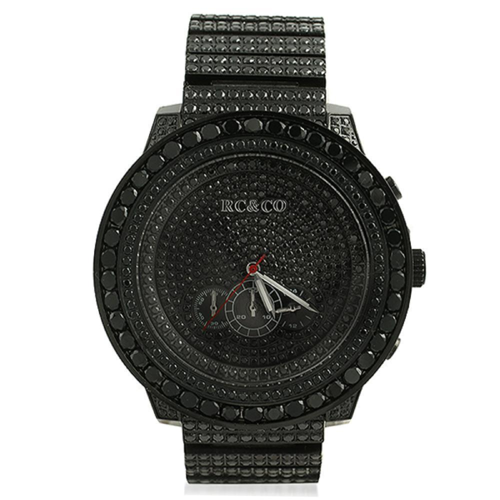 RCCo CZ Black Big Bezel Hip Hop Watch