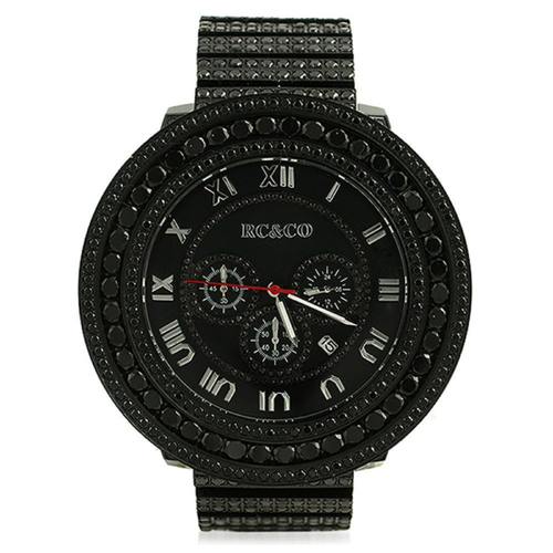 Fully Custom CZ Black HipHop Watch