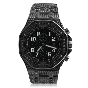 Octagon CZ Bling Black Watch