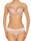 Lauma, Pink Plunge Push Up Bra, On Model Front, 02H10