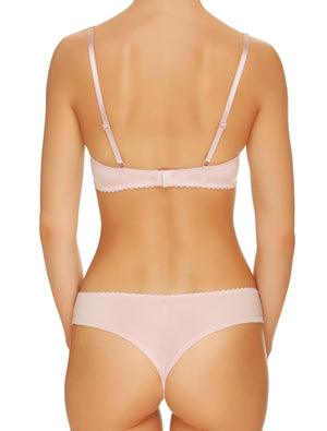 Lauma, Pink Plunge Push Up Bra, On Model Back, 02H10