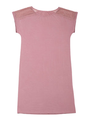 Lauma, Pink Viscose Night Dress, On Model Front, 02H90
