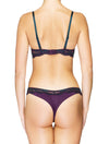 Lauma, Violet Mid Waist Lace String Briefs, On Model Back, 03J60