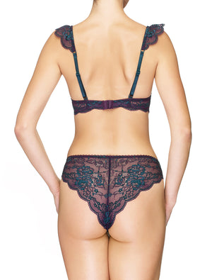 Lauma, Violet Brazilian Lace Briefs, On Model Back, 03J61