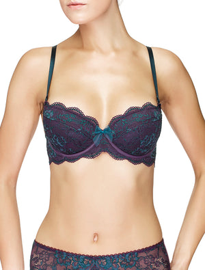 Lauma, Violet Lace Push Up Bra, On Model Front, 03J15