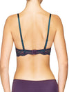Lauma, Violet Lace Push Up Bra, On Model Back, 03J15