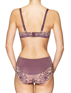 Lauma, Violet Lace Mid Waist Panties, On Model Back, 03J50