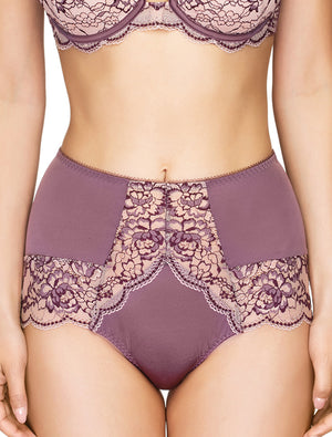 Lauma, Violet High Waist Panties, On Model Front, 03J51