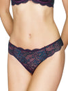 Lauma, Violet Mid Waist Lace String Briefs, On Model Front, 03J60