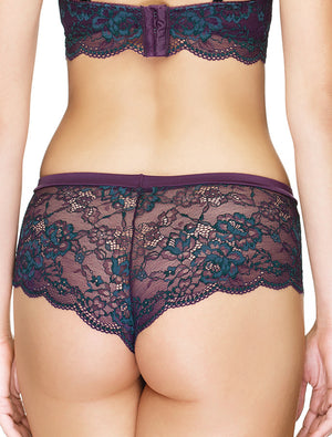 Lauma, Violet Lace Shorts Panties, On Model Back, 03J70