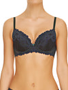Lauma, Blue Lace Push Up Bra, On Model Front, 04H10