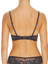 Lauma, Blue Lace Push Up Bra, On Model Back, 04H10
